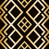 Art Deco style seamless pattern. abstract geometric texture. Stock Images