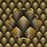 Art Deco style seamless pattern. Golden texture stock illustration