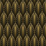 Art Deco style seamless pattern. Golden texture Stock Photography