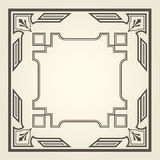 Art deco style square frame Royalty Free Stock Image