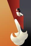 Art Deco styled Spain Flamenco dancer Stock Photography