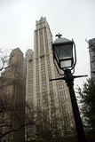 The art deco styled Woolworth Building. Across from City Hall Park, lower Manhattan, New York Stock Images