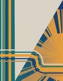 Art Deco Sunburst Background Stock Image