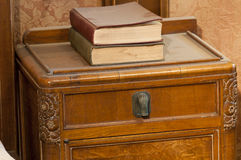Art deco table with books Royalty Free Stock Images