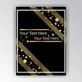Art Deco template golden-black, A4 page, menu, card, invitation stock illustration