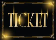 Art deco ticket background. An art deco ticket background vector illustration