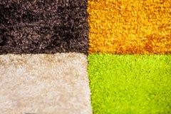 Art Deco tkaniny dywanowi kwadraty Zdjęcie Royalty Free