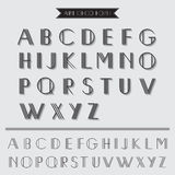 Art Deco Type Font. Vintage Typography - in vector EPS10 royalty free illustration