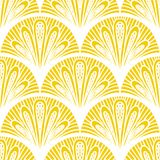 Art deco vector geometric pattern in bright yellow royalty free illustration
