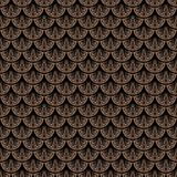 Art deco vector geometric pattern in brown color Stock Image