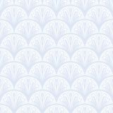 Art Deco Vector Geometric Pattern In Silver White. Royalty Free Stock Photos