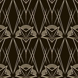 Art deco vector geometric pattern. Seamless texture background d Royalty Free Stock Images