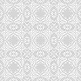 Art deco vector geometric pattern. In silver white. Seamless texture for web, print, wallpaper, Christmas gift wrapping, home decor, winter fashion, wedding Stock Photography