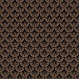 Art deco vector geometrisch patroon in bruine kleur vector illustratie
