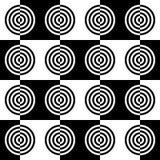 Art Deco Vector Pattern in bianco e nero astratto Fotografia Stock