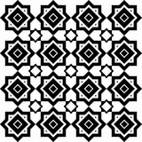 Art Deco Vector Pattern in bianco e nero senza cuciture astratto Immagini Stock Libere da Diritti