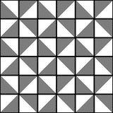 Art Deco Vector Pattern blanco y negro inconsútil Fotografía de archivo
