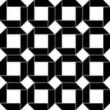 Art Deco Vector Pattern blanco y negro inconsútil abstracto Foto de archivo