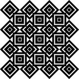 Art Deco Vector Pattern blanco y negro inconsútil abstracto Imagen de archivo libre de regalías
