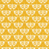 Art deco vector pattern with butterflies Royalty Free Stock Photography