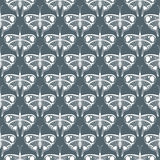 Art deco vector pattern with butterflies Stock Images