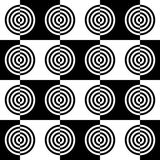 Art Deco Vector Pattern noir et blanc abstrait Photographie stock