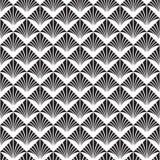 Art Deco Vector Pattern noir et blanc sans couture abstrait illustration stock