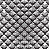 Art Deco Vector Pattern noir et blanc sans couture abstrait illustration de vecteur