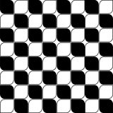 Art Deco Vector Pattern noir et blanc sans couture abstrait Image stock