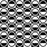 Art Deco Vector Pattern noir et blanc sans couture abstrait Photographie stock