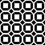 Art Deco Vector Pattern noir et blanc sans couture abstrait Photographie stock libre de droits