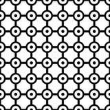 Art Deco Vector Pattern noir et blanc sans couture abstrait Images stock