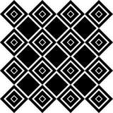 Art Deco Vector Pattern noir et blanc sans couture abstrait Images libres de droits