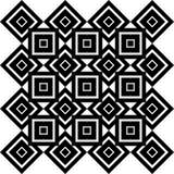 Art Deco Vector Pattern noir et blanc sans couture abstrait Image libre de droits