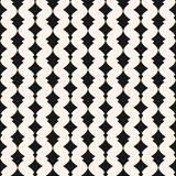 Art deco vector seamless pattern. Monochrome geometric ornament. Art deco vector seamless pattern. Geometric ornament texture with curved shapes, vertical lines Stock Photo