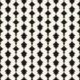 Art deco vector seamless pattern. Monochrome geometric ornament Stock Photo