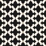 Art deco vector seamless pattern. Monochrome geometric texture. Royalty Free Stock Photography