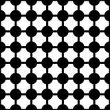 Art Deco Vetora Pattern preto e branco sem emenda abstrato Foto de Stock Royalty Free