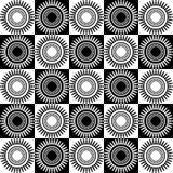 Art Deco Vetora Pattern preto e branco sem emenda abstrato Fotos de Stock Royalty Free