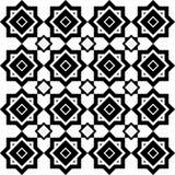 Art Deco Vetora Pattern preto e branco sem emenda abstrato Imagens de Stock Royalty Free