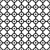Art Deco Vetora Pattern preto e branco sem emenda abstrato Imagens de Stock