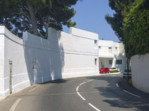 Art Deco villa on the French Riviera Stock Photos