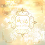 Art deco vintage christmas design of retro flourishes frames. Royalty Free Stock Images