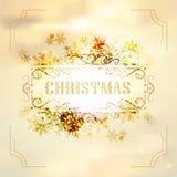 Art deco vintage christmas design of retro flourishes frames. Royalty Free Stock Image