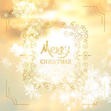 Art deco vintage christmas design of retro flourishes frames. Royalty Free Stock Photography
