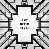 Art Deco vintage decorative frame. Retro card design vector temp Stock Images