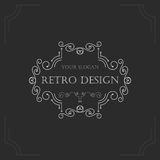 Art deco vintage design of retro flourishes frames. Royalty Free Stock Photo