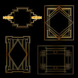 Art Deco Vintage frames royalty free illustration