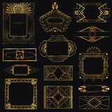 Art Deco Vintage Frames And Elements Stock Photography
