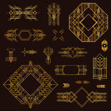 Art Deco Vintage Frames. And Design Elements - hand drawn in vector Stock Image
